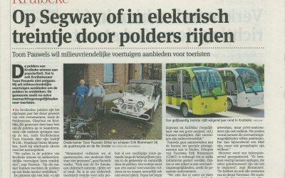 Op Seqway of in elektrisch treintje door de polders van Kruibeke rijden